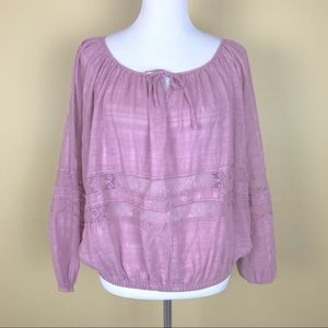 Free People Purple Blouson Top